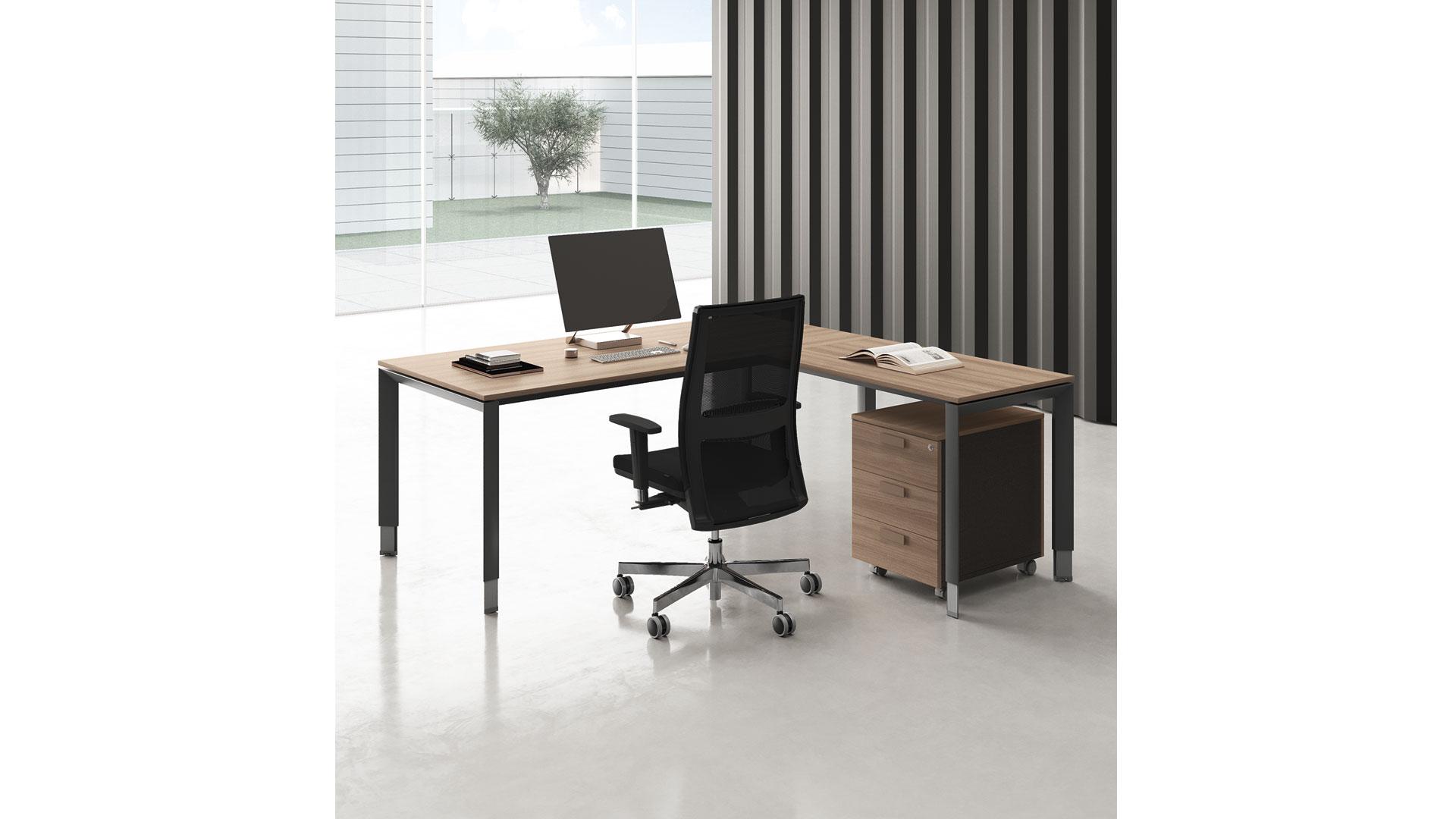 Easy pro 5 bureau avec retour - Easy PRO bureaux