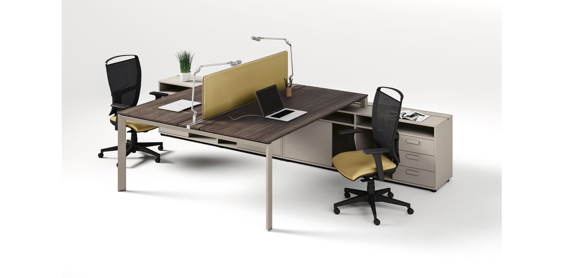 Easy pro 5 bureau double - Easy PRO bureaux