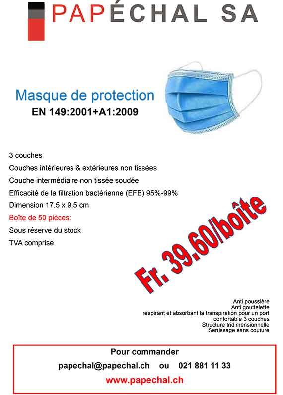 Flyer masque - Shop désinfectants et masques