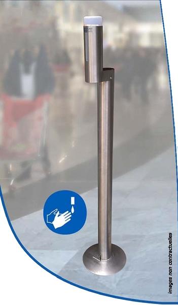 distributeur gel HA sur pied a pedale FII V2 papechal 600 - Shop désinfectants et masques